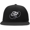 Cloud White OBX Lyfe Flat Bill High-Profile Snapback Hat in 8 Colors