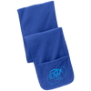 Sky Blue OBX Lyfe Port Authority Fleece Scarf with Pockets in 6 Colors
