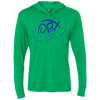 Ocean Blue OBX Lyfe Unisex Triblend LS Hooded T-Shirt in Multiple Colors