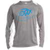 Sky Blue OBX Lyfe Long Sleeve Heather Colorblock Poly T-Shirt in Multiple Colors