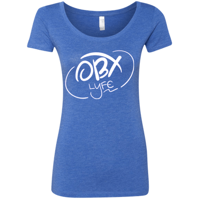 Cloud White OBX Lyfe Ladies' Triblend Scoop in 7 Colors