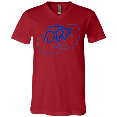 Ocean Blue OBX Lyfe Bella + Canvas Unisex Jersey SS V-Neck T-Shirt in Multiple Colors