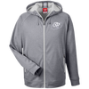 Cloud White OBX Lyfe Men's Heathered Performance Hooded Jacket in 7 Colors