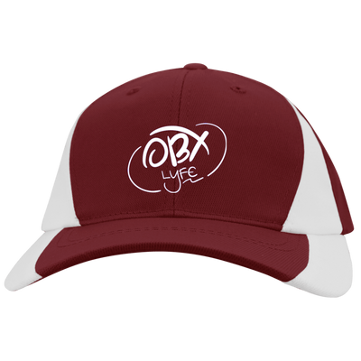 Cloud White OBX Lyfe Youth Mid-Profile Colorblock Cap in 8 Colors