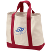 Embroidered Ocean Blue OBX Lyfe Port & Co. 2-Tone Shopping Tote in 5 Colors