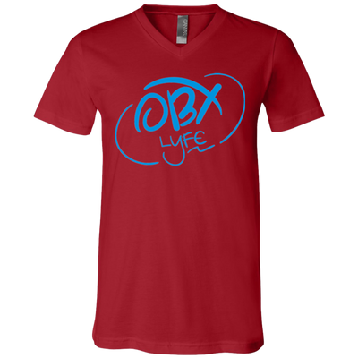 Sky Blue OBX Lyfe Bella + Canvas Unisex Jersey SS V-Neck T-Shirt	in Multiple Colors