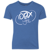 OBX Lyfe Cloud White Youth Triblend Crew in 4 Colors