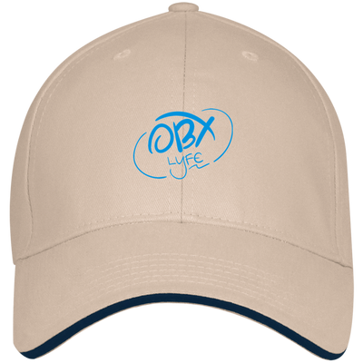 Sky Blue OBX Lyfe Bayside USA Made Structured Twill Cap With Sandwich Visor