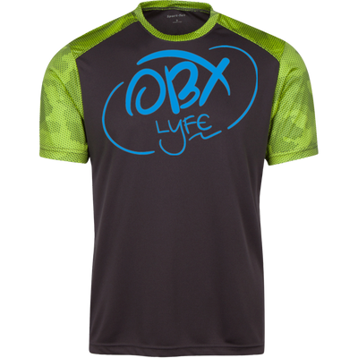 OBX Lyfe Sky Blue Youth CamoHex Colorblock T-Shirt in 7 Colors