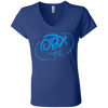Sky Blue OBX Lyfe Bella + Canvas Ladies' Jersey V-Neck T-Shirt in 7 Colors