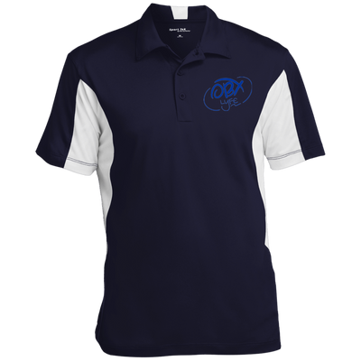 Ocean Blue OBX Lyfe Men's Colorblock Performance Polo in 7 Colors
