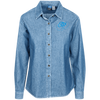 Sky Blue OBX Lyfe Port Authority Women's Long Sleeve Denim Shirt