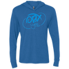 Sky Blue OBX Lyfe Unisex Triblend LS Hooded T-Shirt in 10 Colors
