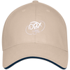 Cloud White OBX Lyfe Bayside USA Made Structured Twill Cap With Sandwich Visor in 3 Styles
