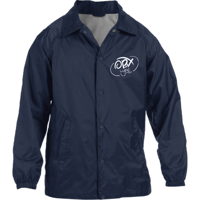 Cloud White OBX Lyfe Nylon Staff Jacket