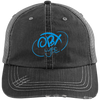 Sky Blue OBX Lyfe Distressed Unstructured Trucker Cap