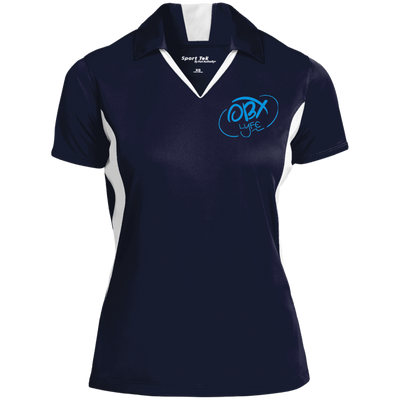 Sky Blue OBX Lyfe Ladies' Colorblock Performance Polo in 14 Colors