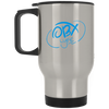 Sky Blue OBX Lyfe Silver Stainless Travel Mug