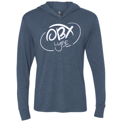 Cloud White OBX Lyfe Unisex Triblend LS Hooded T-Shirt in Multiple Colors