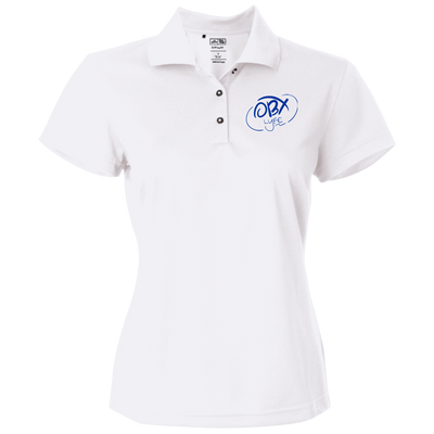 Ocean Blue OBX Lyfe Adidas Golf Women's ClimaLite Basic Performance Pique Polo in 4 Colors