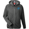 Sky Blue OBX Lyfe Men's Heathered Performance Hooded Jacket in 7 Colors