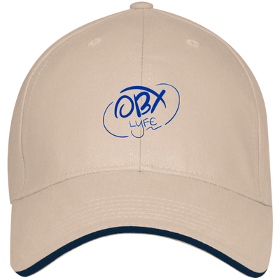 Ocean Blue OBX Lyfe Bayside USA Made Structured Twill Cap With Sandwich Visor in 3 Colors