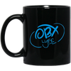 Sky Blue OBX Lyfe 11 oz. Black Mug