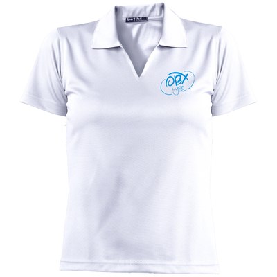 Sky Blue OBX Lyfe Ladies' Dri-Mesh Short Sleeve Polo in 12 Colors