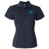 Sky Blue OBX Lyfe Adidas Golf Women's ClimaLite Basic Performance Pique Polo in 4 Colors