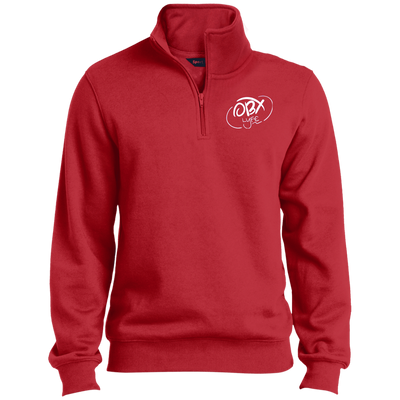 Cloud White OBX Lyfe Tall 1/4 Zip Sweatshirt in 9 Colors