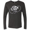 Cloud White OBX Lyfe Men's Triblend LS Crew in 7 Colors