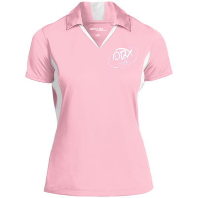 Cloud White OBX Lyfe Ladies' Colorblock Performance Polo in 15 Colors