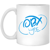 Sky Blue OBX Lyfe 11 oz. White Mug