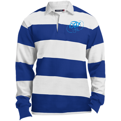 Sky Blue OBX Lyfe Long Sleeve Rugby Polo in 5 Colors
