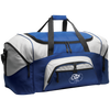 Embroidered Cloud White OBX Lyfe Port & Co. Colorblock Sport Duffel in 11 Styles