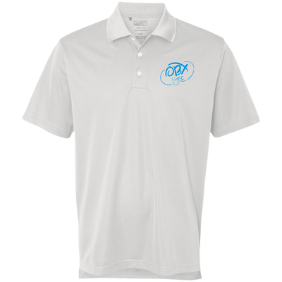 Sky Blue OBX Lyfe Adidas Golf ClimaLite Basic Performance Pique Polo in 4 Colors