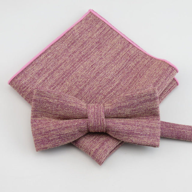 13 Color Variations - High Quality Bow Tie and Pocket Square Set