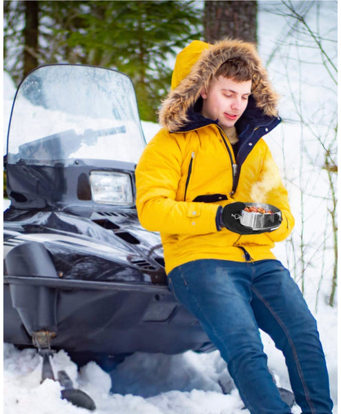 The Original Muffpot® - Food Warmer for Snowmobile, ATV, UTV, & Motorcycles