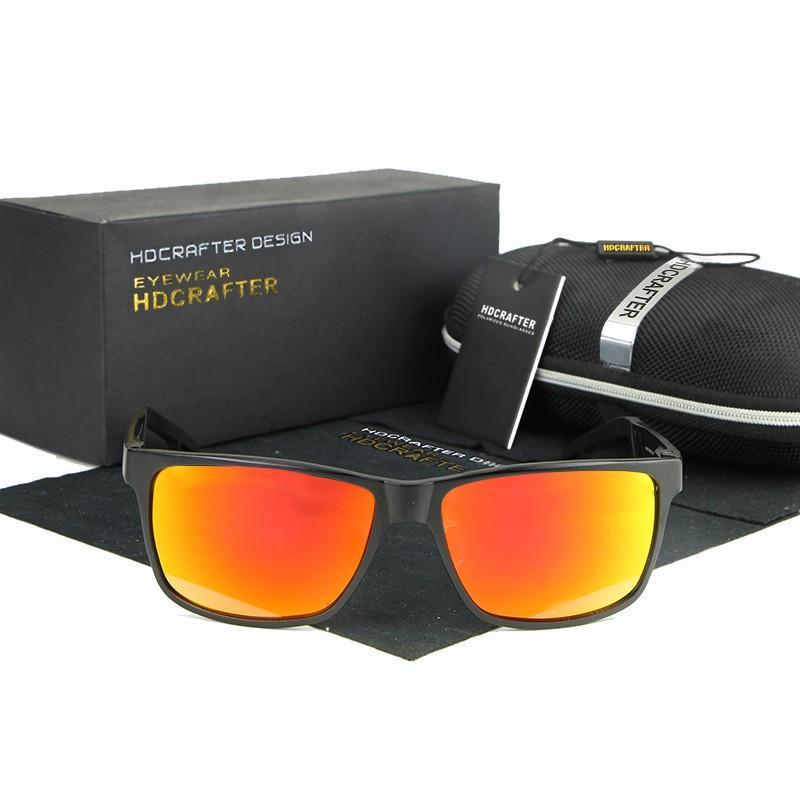 bc93850b92 HDCRAFTER Brand New Sunglasses Metal Frame Unisex Rectangle Goggle Driving  Sun Glasses Eyewear Accessories