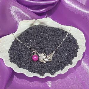 "SS 925 Feather Pendant 16"" necklace"