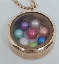 Desert Pearls Australia Stainless Steel Floating Locket with chain.