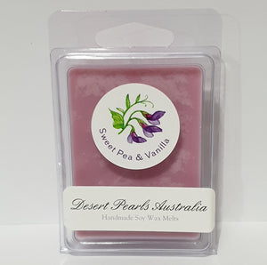 Sweet Pea & Vanilla Handmade Soy Wax Melts 6 pack