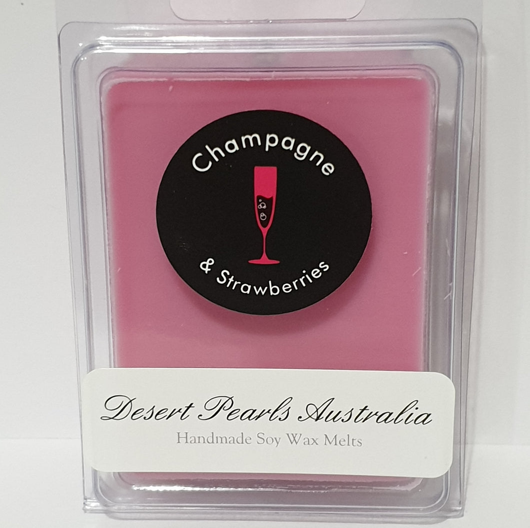 Champagne and strawberries 6 pack soy wax melts