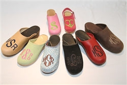 Ladies  Monogrammed Clogs