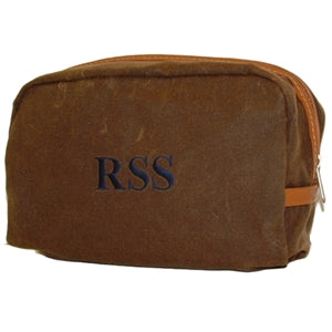 Waxed Cotton Dopp Kit