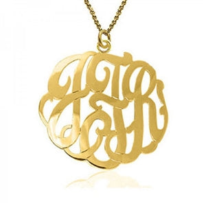Script Center Bale Pendant Necklace