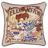 Region Hand-Embroidered Pillow