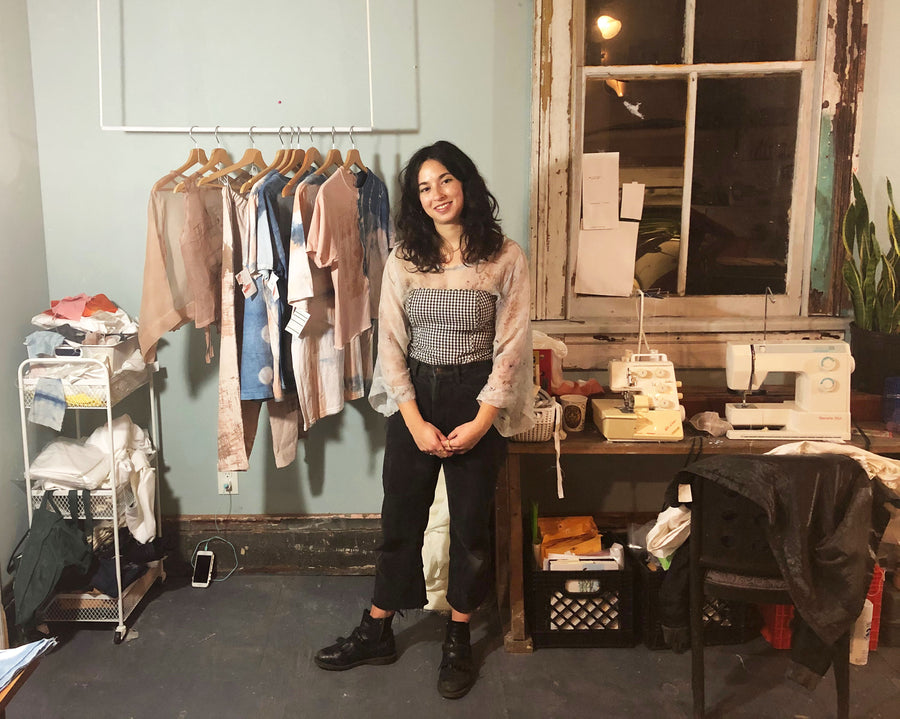 (Eliza in her New Orleans studio.
