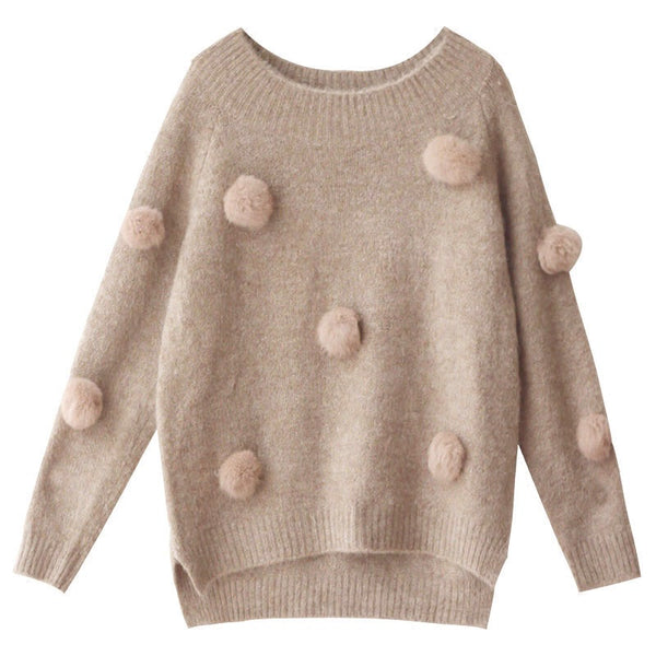 'Eliza' Cozy Pom Sweater