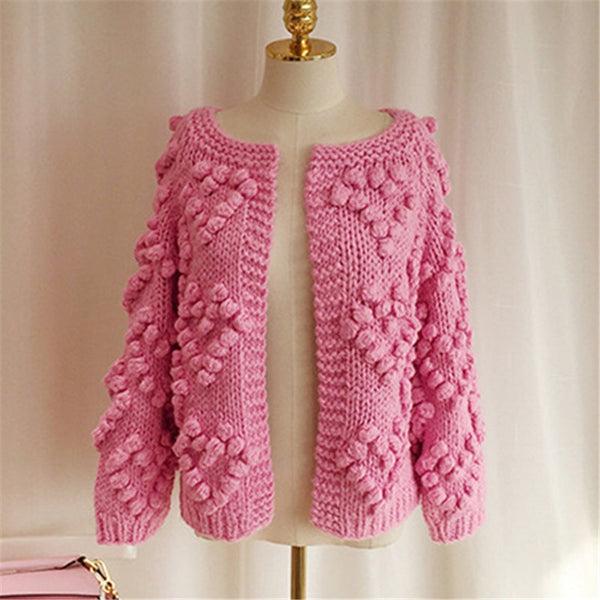 Pink Heart Cardigan